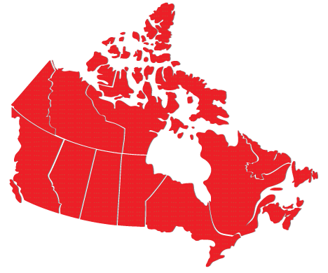 Repair Express Service Map of Canada